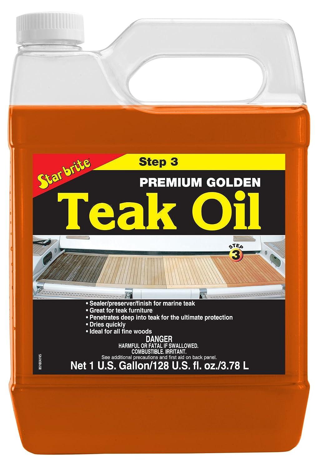 Star Brite Premium Golden Teak Oil - Sealer, Preserver, & Finish for Outdoor Teak & Other Fine Woods