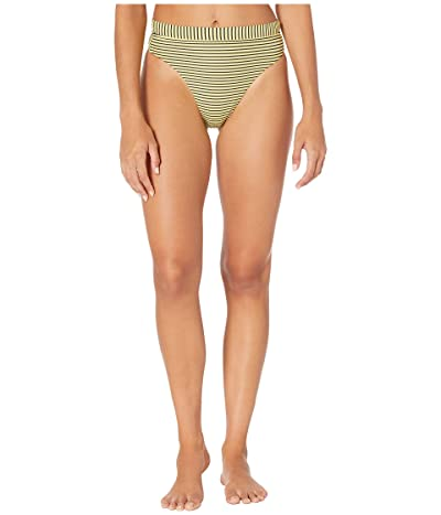 Seafolly Go Overboard High-Rise Rio Bikini Bottoms (Limelight) Women