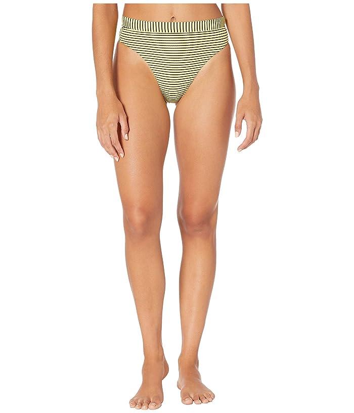 Seafolly Go Overboard High-Rise Rio Bikini Bottoms (Limelight) Women