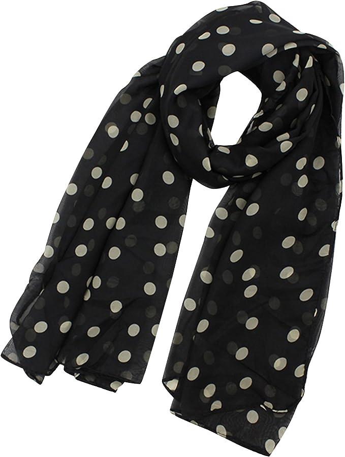 Sanwood Modisch Damen Lady Tupfen Printing Chiffon lange Schal Schal Wraps 5 Farben