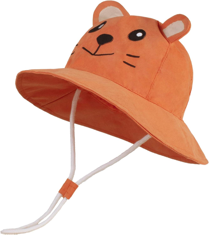 LANGZHEN Kids Summer Sun Protection hat Cute Animals Designed Toddler Baby Boys Girls Bucket hat
