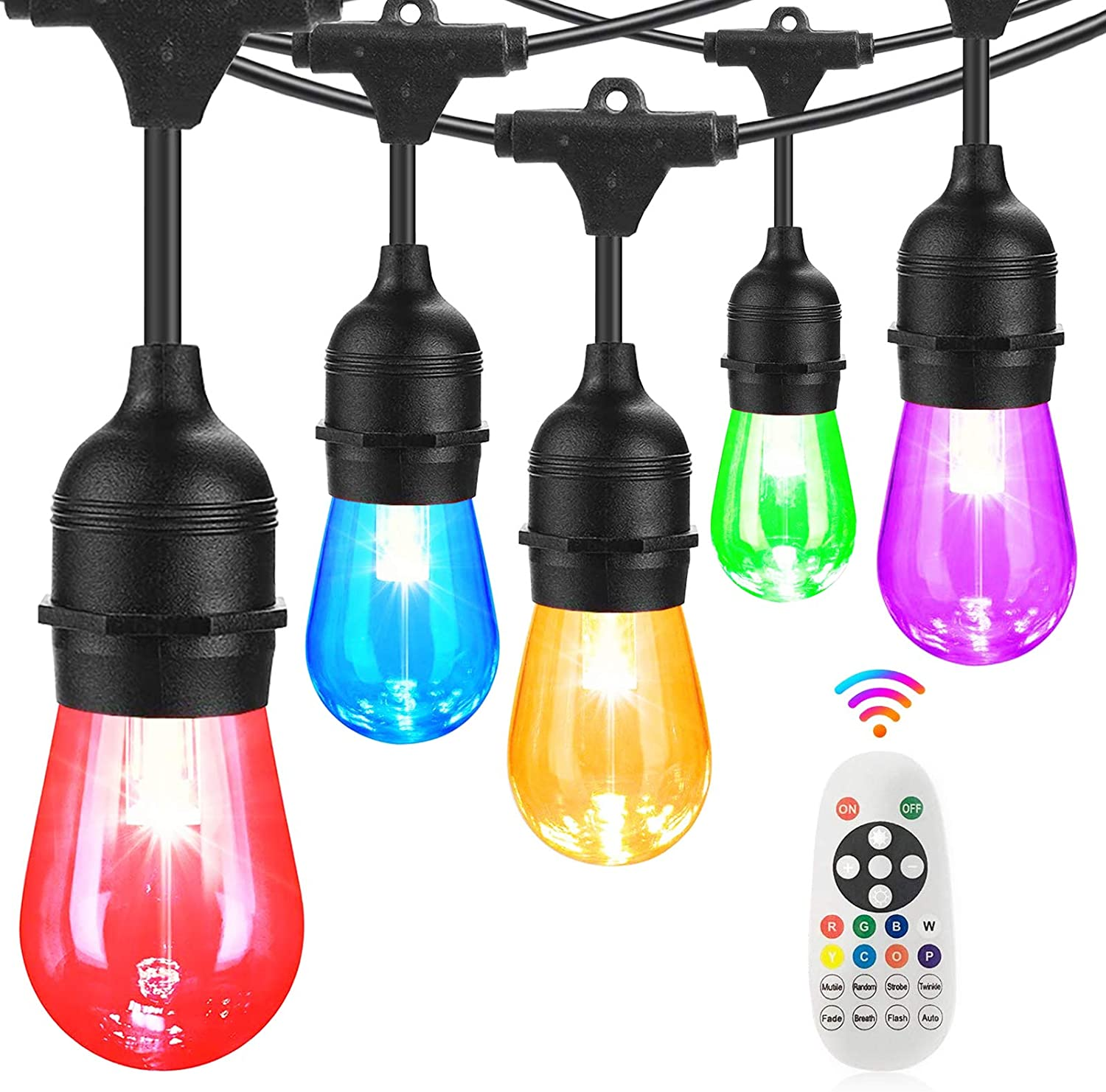 Finally resale start BRTLX Outdoor LED String Light Don't miss the campaign Color Dimmab Changing RGBW 100Ft