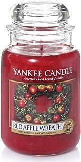 Yankee Candle Vela en un Vaso Doze Una Corona de Manzanas Rojas Rojo Frasco Grande