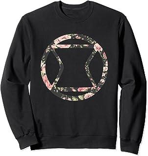 Marvel Black Widow Floral Sweatshirt