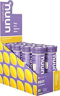 Nuun Rest: Rest and Recovery Drink Tablets, Magnesium Citrate, Tart Cherry, Electrolytes - Lemon Chamomile, 10 Count (Pack...