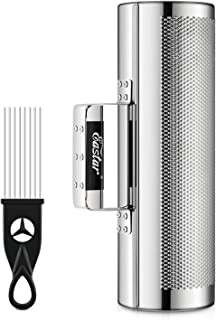 """Eastar Stainless Steel Guiro Instruments Latin Percussion Instrument Shaker Musical Instruments 4 """"x 12"""" Metal Guiro with Scraper"""