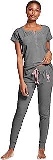 يو.اس. بولو اسن. مجموعة ملابس نوم وسراويل وبيجامات طويلة وقمصان قصيرة الأكمام للنساء.