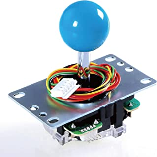 SANWA JLF-TP-8YT Joystick Blue Original - for Arcade Jamma Game 4 & 8 Way Adjustable, Compatible with Catz Mad SF4 Tournam...