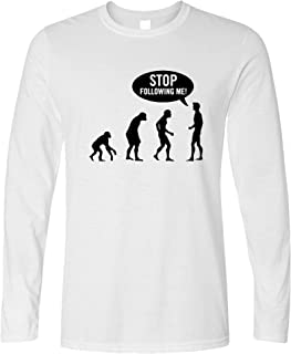 Tim And Ted Stop Following Me Novelty Long Sleeve Evolution Parody
