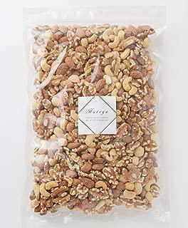 素焼きミックスナッツ 4種類(アーモンド、カシューナッツ、くるみ、マカダミアナッツ) 1kg 無塩 無添加 【築地鳩屋】