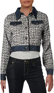 Sponsored Ad - Gracia Womens Tweed Denim Denim Jacket