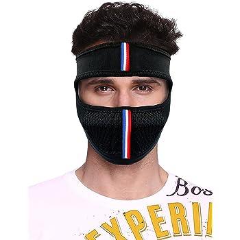 Vocado Bike Riding and Cycling Anti Pollution Dust Sun Protecion Half Ninja Face Cover Mask (Black)