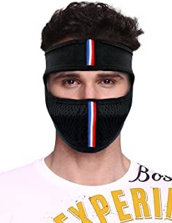 Suraj Metals Bike Riding and Cycling Anti Pollution Dust Sun Protecion Half Ninja Face Cover Mask (Black)