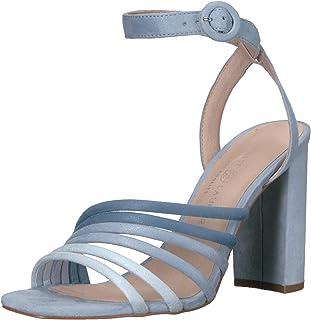 Chinese Laundry Women's Jonah Heeled Sandal, Blue Multi Suede, 7 M US