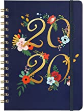 Planner 2020 - Weekly & Monthly Planner with Tabs, January 2020 - December 2020, Floral Cover with Twin-Wire Binding, Banded + Inner Pocket + Thick Paper, 6.30