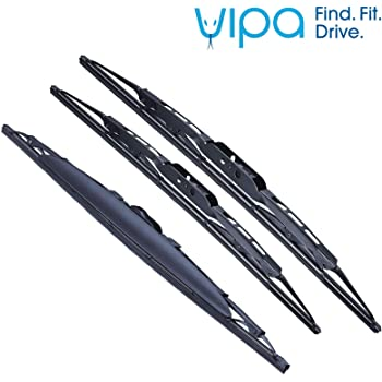 3 x Blades Front and Rear Blades AVENSIS Estate Apr 2003 to Nov 2008 Windscreen Wiper Blade Set