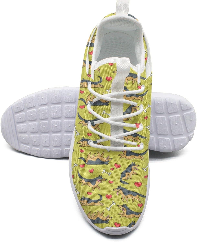 German Shepherds Women's Fashion Athletic shoes Trendy Mesh Lightweight Athletic Sneakers