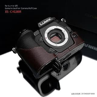 Gariz XS-CHG9BR Leather Half Case for Panasonic G9, Brown