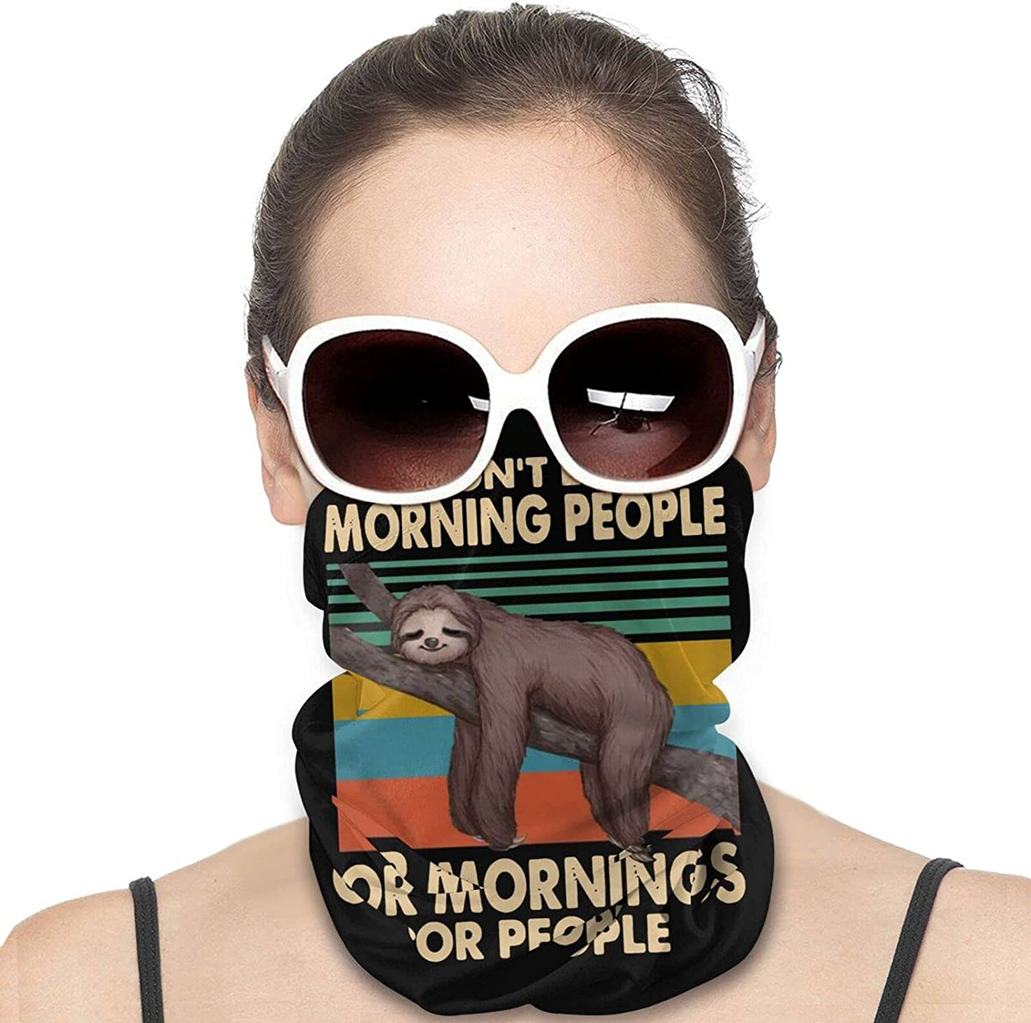 I Don't Like Morning People Round Neck Gaiter Bandnas Face Cover Uv Protection Prevent bask in Ice Scarf Headbands Perfect for Motorcycle Cycling Running Festival Raves Outdoors