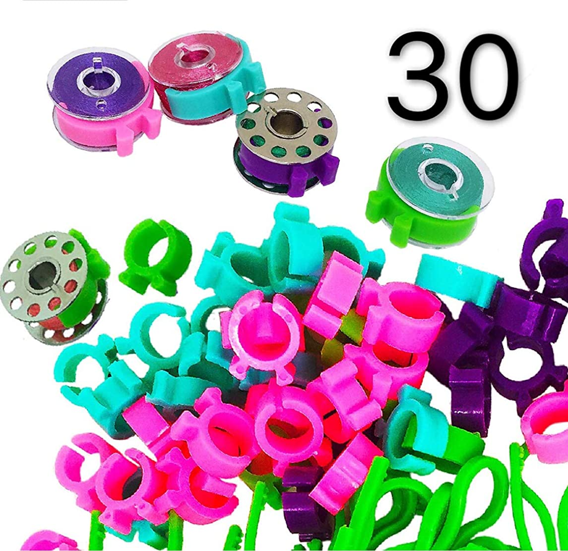 30 Pcs Bobbin Clips Holders Clamps Bobbin Buddies Great for Embroidery Quilting and Sewing Thread Sewing Machine PeavyTailor