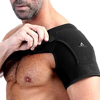 Anoopsyche Shoulder Brace Support, Dislocated Prevention and Recovery, Pain Relief Sling for Women and Men, Adjustable Fits Both Left or Right Shoulder