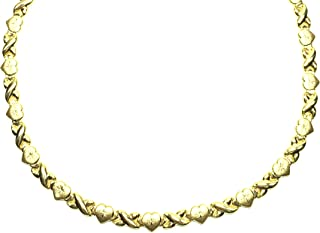 10k gold hugs and kisses necklace