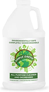 Simple Earth Natural Super Concentrated All Purpose Cleaner & Degreaser, Plant Based, Eco-Friendly, Organic, Products are Household & Pet Safe, Liquid Multisurface 64oz Solution