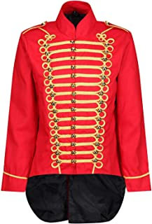 Men's Parade Jacket Marching Band Drummer Gothic Tailcoat
