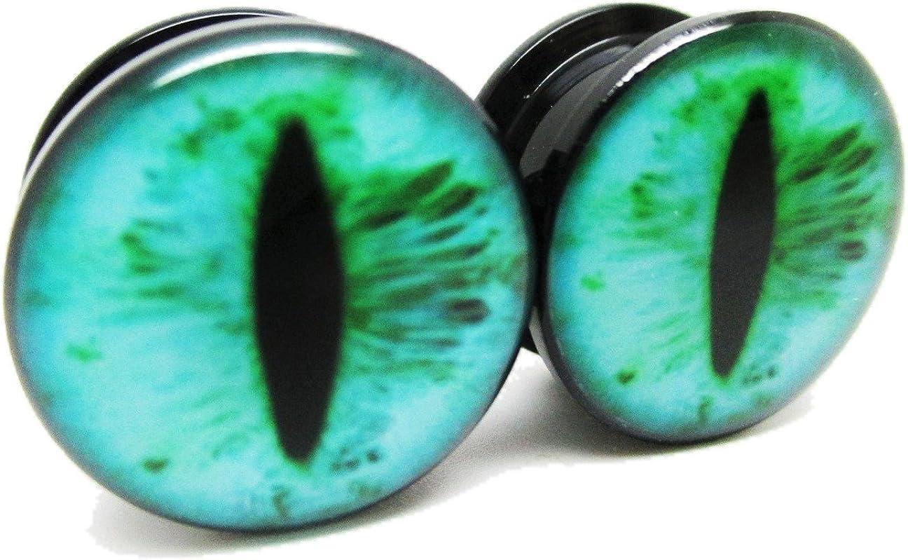 Pierced Republic Teal Houston Mall Eye Ear Plugs Acrylic Las Vegas Mall Screw on - NEWPa