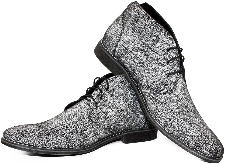 Modello grålo Handgjorda Italienska Italienska Italienska läder herr Färg Grå Ankle Chukka Stövlar Cowhid mocka  kreativa produkter