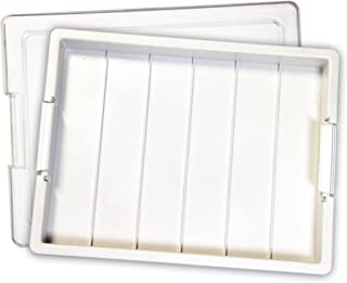 """Elizabeth Ward Bead Storage Tray, 1 Pack, White – 13 ¾"""" x 10 ½"""" x 2"""" – 2-Piece Stackable Bead and Craft Supply Tray, Made ..."""