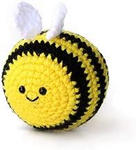 Handmade amigurumi crochet bee stress ball by Geekirumi! - Squeeze anti stress/anxiety - Hand therapy toy