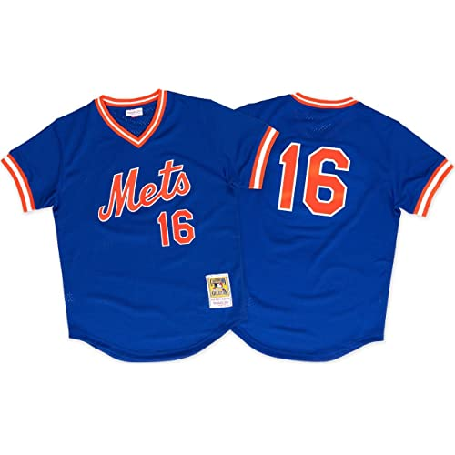 Mitchell   Ness Dwight Gooden New York Mets  16 Men s 1986 Authentic Mesh  Batting Practice 5cc14d89f