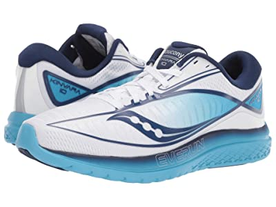 Saucony Kinvara 10 (White/Blue) Women