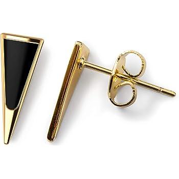 Benevolence LA Gold Stud Earrings for Women | Opal or Onyx Stud Earrings | Gold Opal Earring Perfect for Gifting | Women Stud Earrings with Minimalist Earrings Design