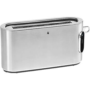 WMF Lumero Toaster Langschlitz mit Brötchenaufsatz, 2 Scheiben, XXL, Einseitiges Toasten, 1-Scheiben-Taste, 10 Bräunungsstufen, Toaster edelstahl matt