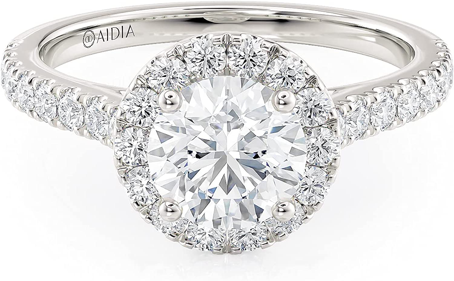 3 4 Carat Lab Grown Diamond Classic Chicago Mall Engagement i Outlet SALE Round Ring Halo