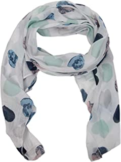 Zwillingsherz Seiden-Tuch Damen Herz Muster - Made in Italy - Eleganter Sommer-Schal für Frauen - Hochwertiges Seidentuch/Seidenschal - Halstuch und Chiffon-Stola Dezent Stilvolles Muster
