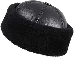 Zavelio Women's Shearling Sheepskin Winter Fur Beanie Hat