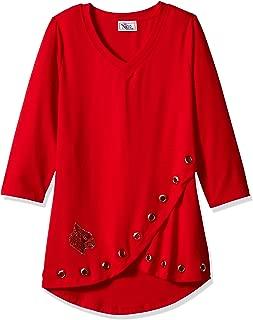 NCAA Louisville Cardinals Womens Women's Fashion Tulip Top, Red, 2X