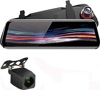 ziqiangnongye ドライブレコーダー 前後カメラ バックミラー型 G-センサー搭載 暗視カメラ ミラーモニター リアカメラ 防水 バックカメラ 1080PフルHD 170度広角レンズ 9.66インチ 駐車監視 常時録画