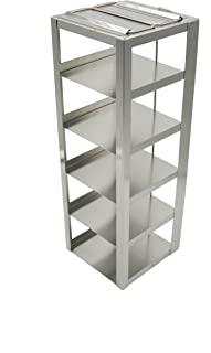 Heathrow Scientific HD2862DA Steel Standard Chest Freezer Vertical Rack with 5 Shelves, For 3