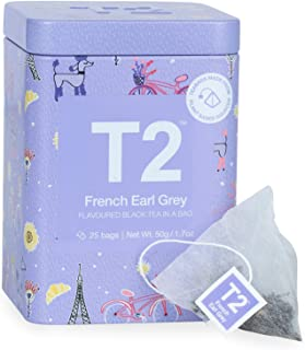 T2 Icon Tin French Earl Grey,25 Count (Pack of 1),B125AI023