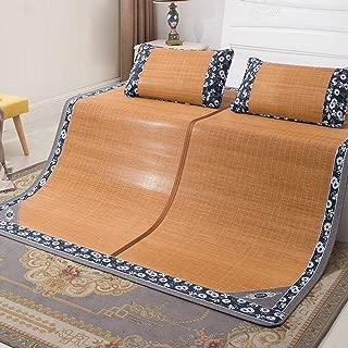 JGWJJ Estera de Dormir de Verano Estera de bambú Colchoneta de enfriamiento Estera Superior Estera con Aire Acondicionado Lisa (Tamaño: 180 * 200 cm) (Tamaño : 150 * 195CM)