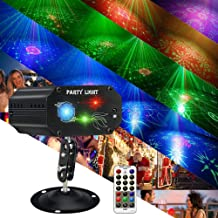 Music Lights for Parties,RGB LED Strobe Lights + RED & GREEN Party Projector Disco..