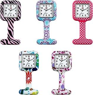 Lancardo Unisex Square Nurses Pin-on Fob Brooch Lapel Silicone Pocket Watch 5 Colors