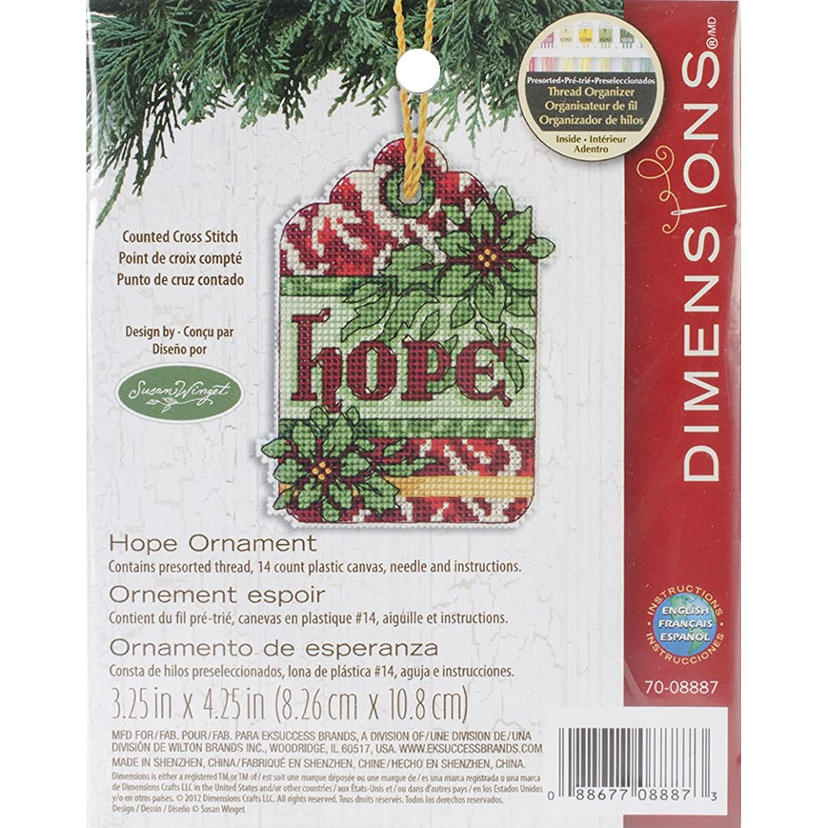 Dimensions Counted Cross Stitch, Hope Ornament