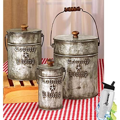Rustic Canister Sets: Amazon.com