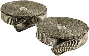 JC Performance Glossy Lava Rock Titanium High Heat Fiberglass Double Rolls - 25% Thinner Than Our Standard Wrap! - Exhaust Header & Pipe Wrap Thermo Basalt (1