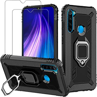 Sponsored Ad - Avesfer for Xiaomi Redmi Note 8 Case with Screen Protector Tempered Glass Ring Holder 360 Degree Rotation K...
